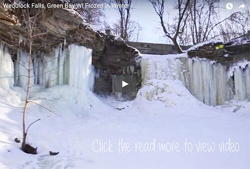 Wequiock Falls Green Bay Froze Over Video