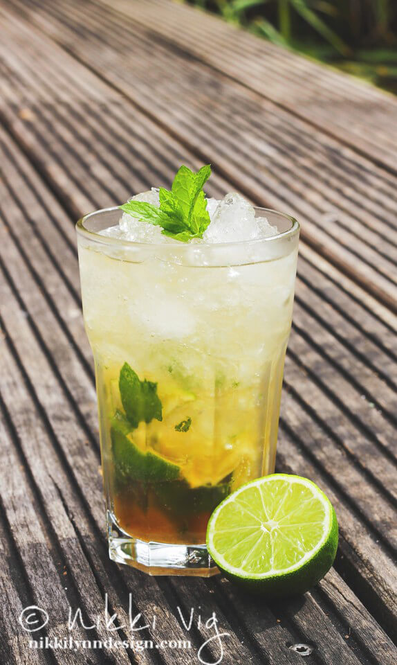 The classic Mojito or Mint Julep was first introduced to me at my 40th birthday. One of my guests brought a beautiful gift basket full of all the ingredients to make the classic drink.