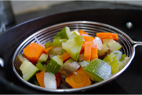 Blanching Garden Vegetables for Freezing