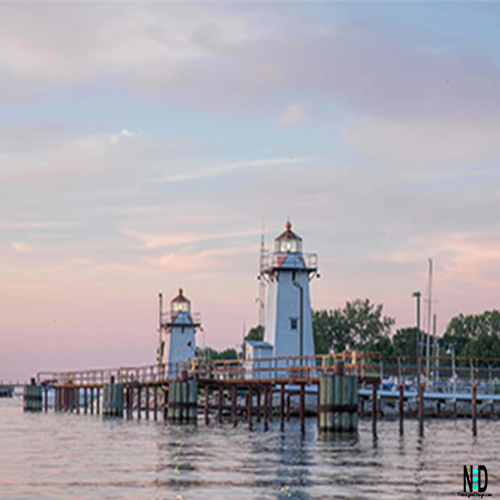 Grassy Island Lighthouse Green Bay Wisconsin Great Lakes