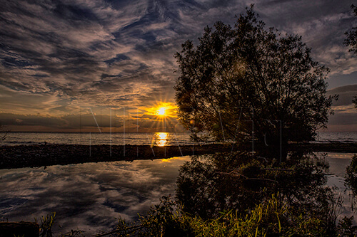 Door County Wisconsin Sunset Landscape Photography Art Print