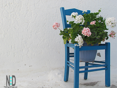 Flower Pot Chair Planter