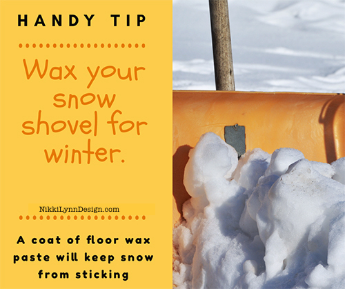 Wax Your Shovel For Winter to Keep Snow From Sticking