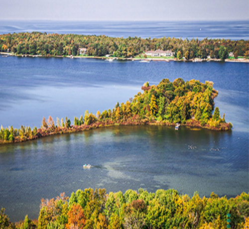 Early Fall Potawatomi State Park tower in Door County