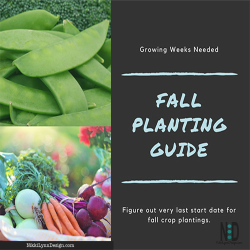 Fall Planting Guide How Many Weeks are Need to Grow