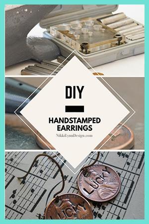DIY Handstamped Penny Earrings
