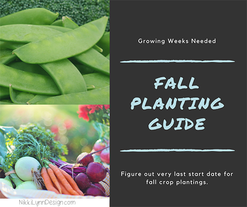 Growing Weeks Needed for Fall Crops
