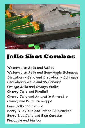 Jello Shot Combos