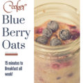 Pressure Cooker Blueberry Steel Cut Oats - 15 minutes for a weeks worth of breakfast