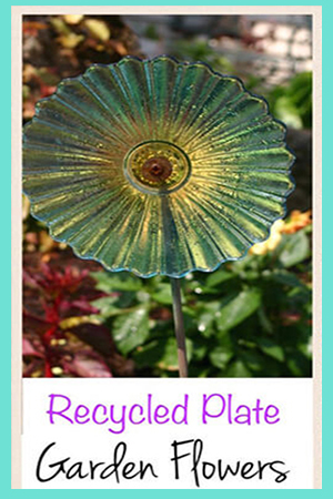 Recycled Garden Plate Flowers