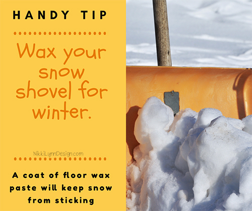 Wax Your Shovels For Winter