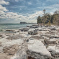 Frigid Shores Of Lake Michigan - Snow and Ice along Door County Wisconsin