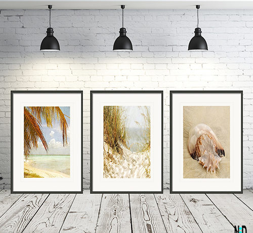 Gorgeous Sandy Beach Hideout Wall Art Print