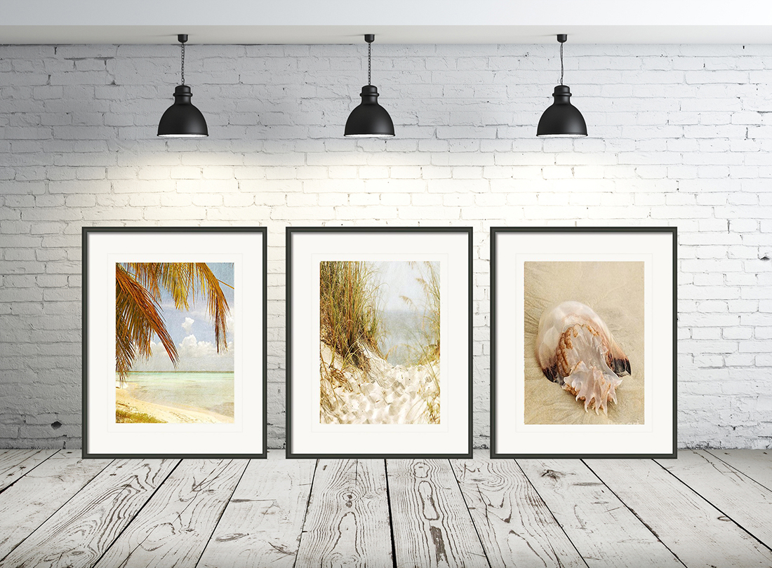 Gorgeous Sandy Beach Hideout Collection - three fine art artistic photography prints. This gorgeous sandy beach hideout collection was taken along the shores of New Smyrna, Florida.