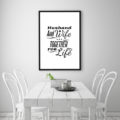 Husband and Wife Together for Life Art Print