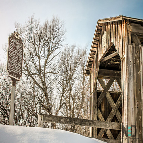 Last Covered Bridge lin Cedarburg Wisconsin