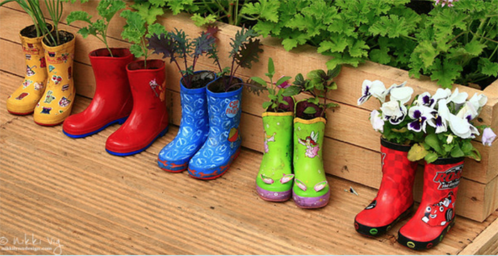 You Don't Have to Wait For a Rainy Day Rain Boot Garden Planter