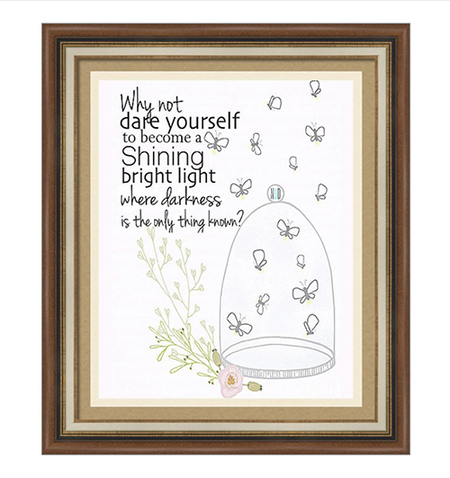 Why Not Dare Yourself Inspirational Quote Print
