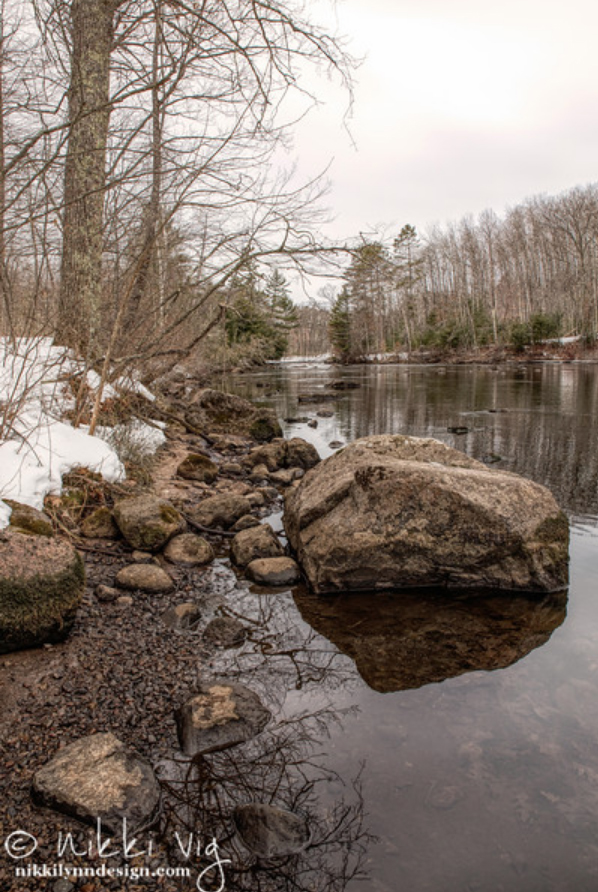 Sunday Drive in Early March - Peshtigo River Wisconsin
