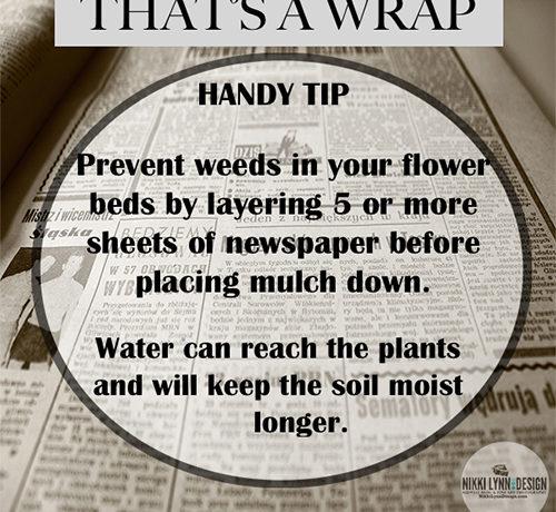 Newspaper Barrier Prevents Weeds Garden Tip For No Weeds