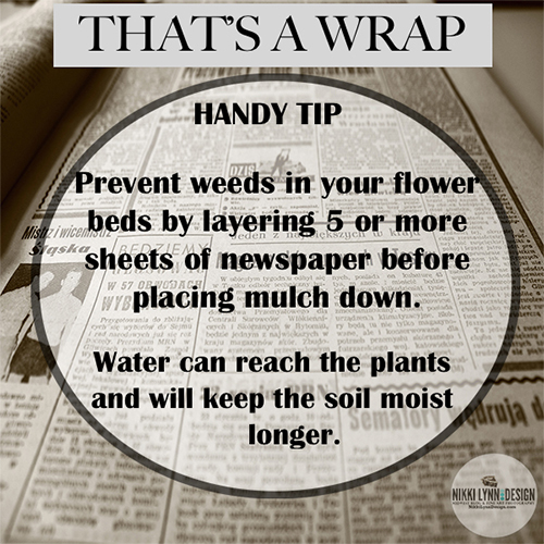 Newspaper Barrier Prevents Weeds Garden Tip For No Weeds