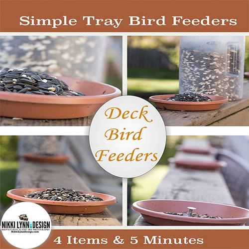 DIY Simple Tray Bird Seed Feeder for You Deck