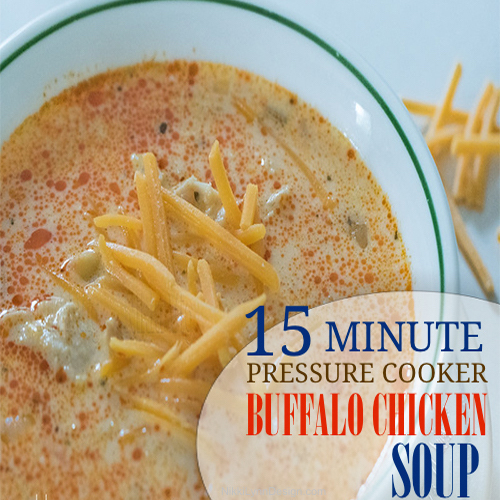 Pressure Cooker Buffalo Chicken Soup