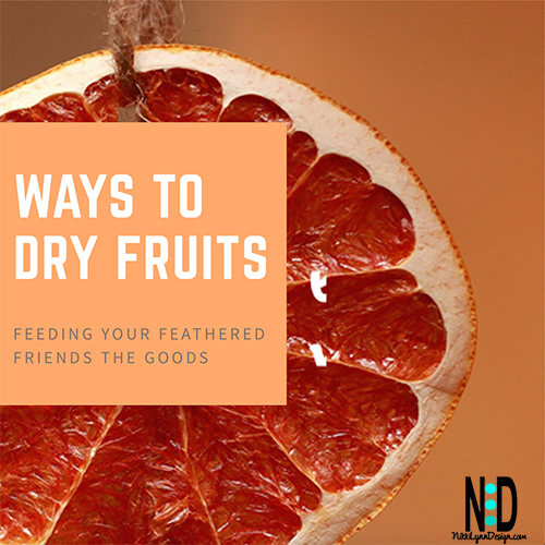 3 Ways to Dry Fruit for the Birds