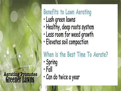 Fall Lawn Aerating Promotes Greener Lawns