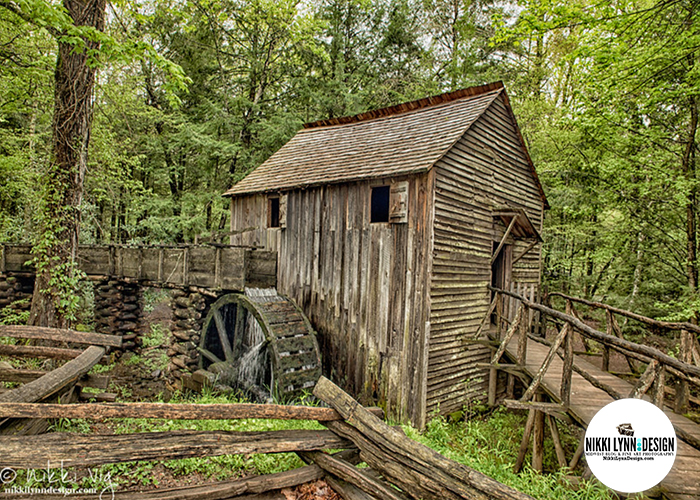 Mill in Cades Cove Tennessee Smoky Mountains National Park
