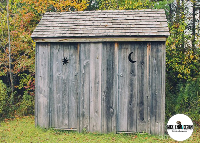 Moon and Stars Outhouse