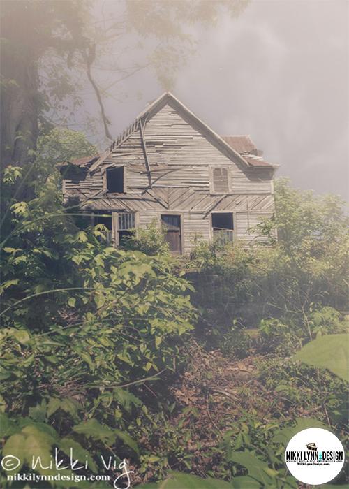 Oppressively Somber Abandon Old Creepy House