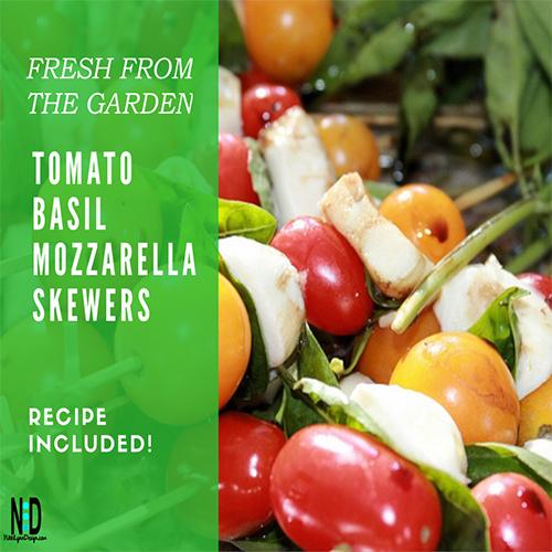 Tomato Basil Mozzarella Skewers