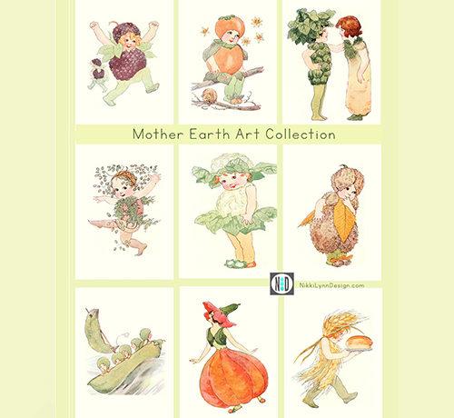 Mother Earth Children Art Prints