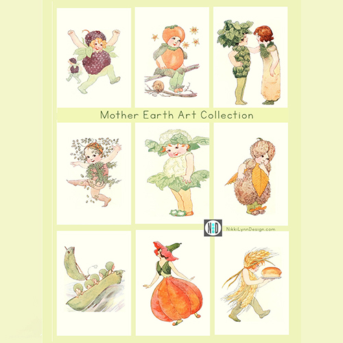 Mother Earth Children Art Prints