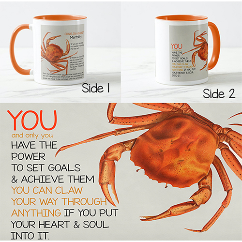 Crab Mentality Coffee Mug Design