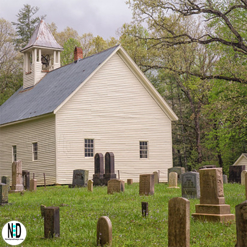Cades Cove Methodist Church in Smoky Mountains National Park in Townsend TN